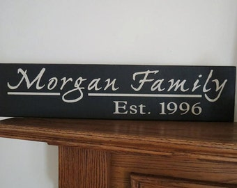 Last Name Family Sign, House Warming, Anniversary, Wedding, Christmas Sign, Wall Decor