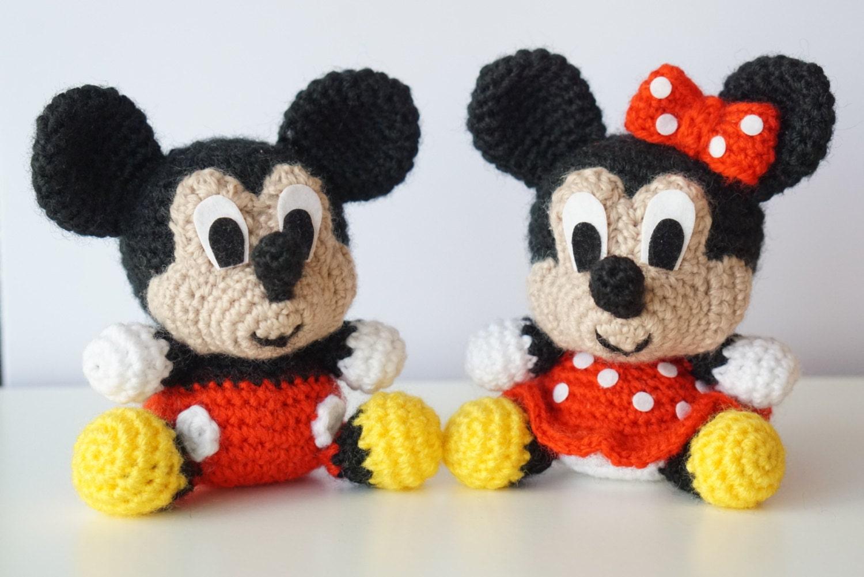 Pack 2 en 1 - Mickey Mouse y Minnie Mouse Disney Patrón Amigurumi ...