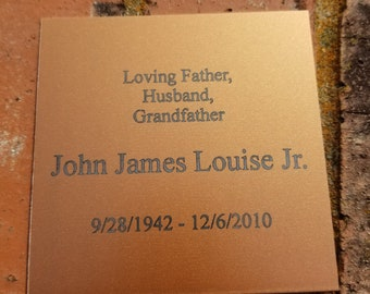"""Up to 4x4"""" Personalized Engraved Name Plate, Name Plaque, Name Tag, Trophy Plate, Plaque Plate, Award Plate"""