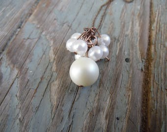 Pearl Drop Chain Necklace
