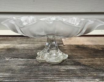 Glass Serving Platter Christmas Decor Cake Stand