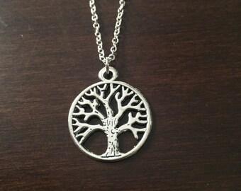 Tree of Life, Silver Tree Necklace, Tree Necklace, Tree Jewelry, Tree Pendant, Silver Tree, Tree, Charm Necklace, Silver Necklace, Necklace