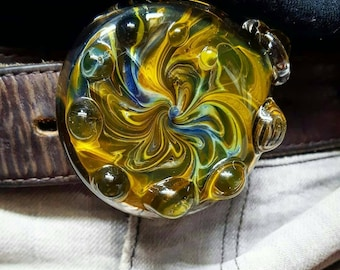 Glass Belt Buckle (Minutia Series)