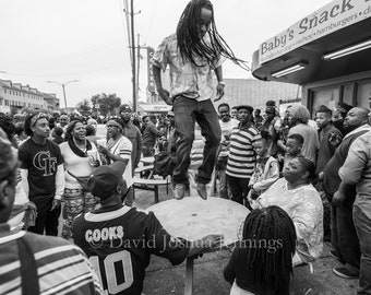Sunday at Baby's Snacks - New Orleans 2016 - Fine Art Photograph - Street Photography - Black and White - Fine Art Print - Second Line