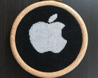 Cross stitch pattern apple