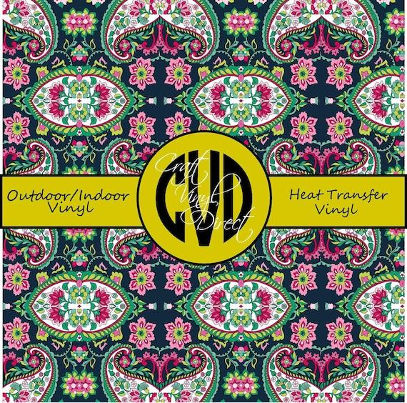 Paisley Patterned Vinyl // Patterned / Printed Vinyl // Outdoor and Heat Transfer Vinyl // Pattern 265