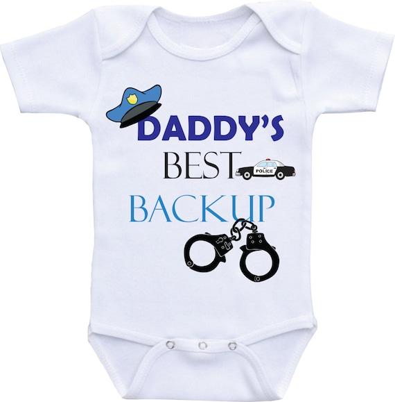 Daddy Police Baby Boy Onsie Police Baby Shower Police Onesie
