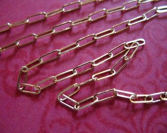 10-100 ft, 14k Gold Filled Chain, Drawn Cable Necklace Chain Wholesale, 10-15% less, Rectangle Links, 5.5x2 mm / SGF SGF98