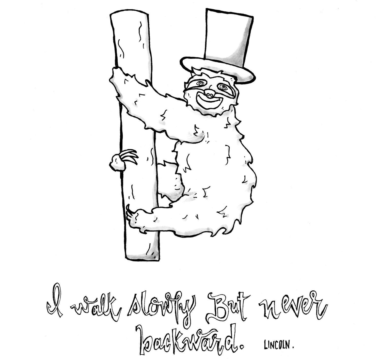 Dibujo perezoso cotización dibujo de Lincoln Lincoln pereza