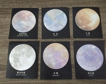 Planet Galaxy Sticky Memo Notes