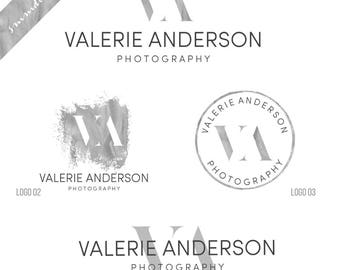 Branding Kit, Photography logo package, Premade Initials logo, Blog logo design, Watermark, Stamp, Custom business package Logo branding 117