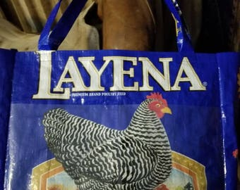 Purse from Repurposed Feed Bag