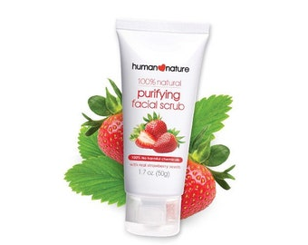 Human Nature Certified 100% Natural Purifying Facial Scrub with real Strawberry Seeds