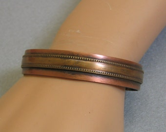 Vintage Brass on Copper Cuff Style Bracelet