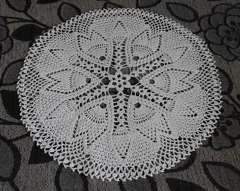 SALE 10% OFF: Crochet doily Round crochet doilies White handmade cotton lace doily Crocheted doilies Home decor Large crochet doily 68