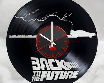 Time Machine Back to the Future Vinyl Record Wall Clock
