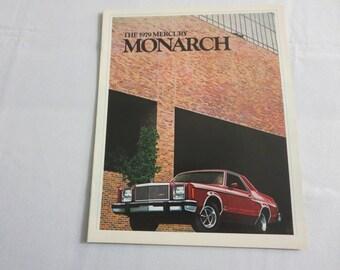 1979 Mercury Monarch Sales Brochure Catalog Advertising