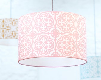 Moroccan lampshade in grey tile pattern homeware large moroccan lampshade in pink tile patternhomewarelarge lampshadeceiling lamp shadefloor lamphousewarming giftnew home giftlamp shade aloadofball Image collections