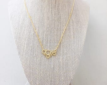 Bubble Necklace || Rose Gold Necklace, Gold Necklace, Delicate Necklace, Layering Necklace, Simple Necklace, Circle Necklace