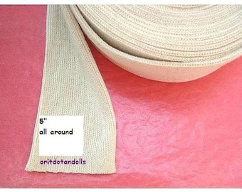 Doll's cotton tubing 1 yard/36inch/ 90cm for crafting inner doll's head, suitable for Waldorf dolls-for large heads- made in Israel
