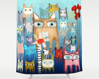 Shower Curtain - Bunch of Cats
