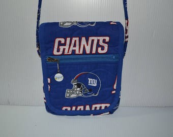 Quilted Fabric Cross Body  Hip Bag New York Giants NFL