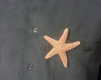 boutonniere,Starfish boutonniere,  Beach wedding, tropical wedding, bridal, starfish hair clip, fish, ocean clip