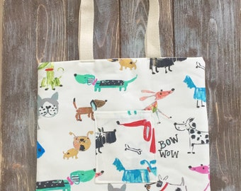 Bow Wow! Canvas Tote Bag