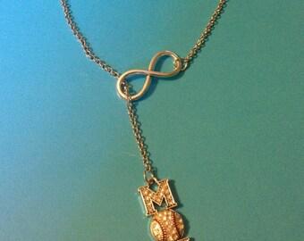 Infinity Baseball Mom necklace