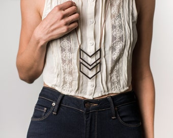 Stacked Open Chevron Necklace