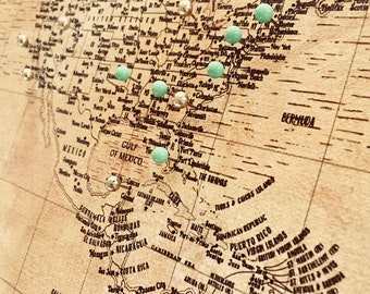 World maps push pin maps and travel related by worldvibestudio map of the world world map canvas push pin map world map push gumiabroncs