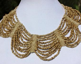 Ivory Beaded Cleopatra Necklace