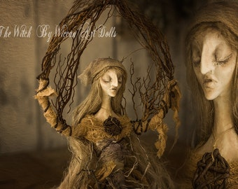 The Witch by Wiccan Art Dolls MADE TO ORDER