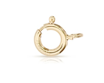 Clasps, Spring Ring With Fixed Open Ring, 14Kt Gold Filled, 6mm - 20pcs Wholesale Price (2665)/1