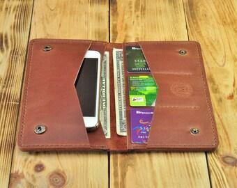Bifold wallet, Checkbook wallet, Big wallet, Large wallet, Designer wallets, Passport wallet for women, Passport wallet womens, color Brandy