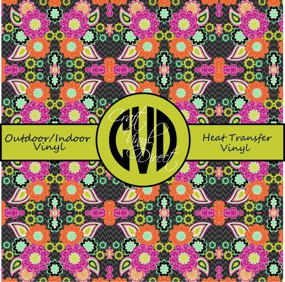 Beautiful, Vibrant Patterned Craft Vinyl and Heat Transfer Vinyl in Pattern 259
