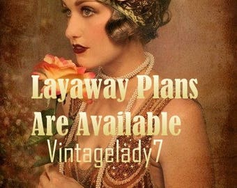 LAYAWAY PLAN - Simple Convenient Layaway Payment Plans Available (30,60 Days) By Vintagelady7 Please contact me for layaways