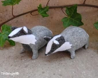 Jonge Dassen, twee kleine dassen van wolvilt - Handwerkpakket