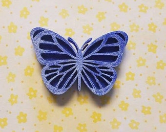 3D Printed Sparkle Butterfly Hair Clip READY TO SHIP