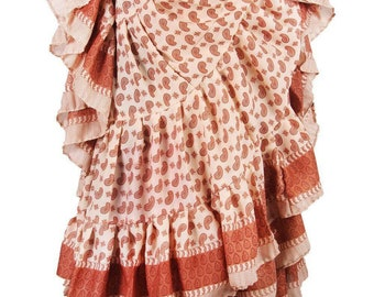 25Yard Multicolor Tribal TyeDyed Gypsy Batik Beautiful ATS Skirt~