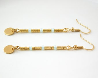 DAINTY earrings gold/mint