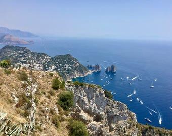 Capri Cliffside Print