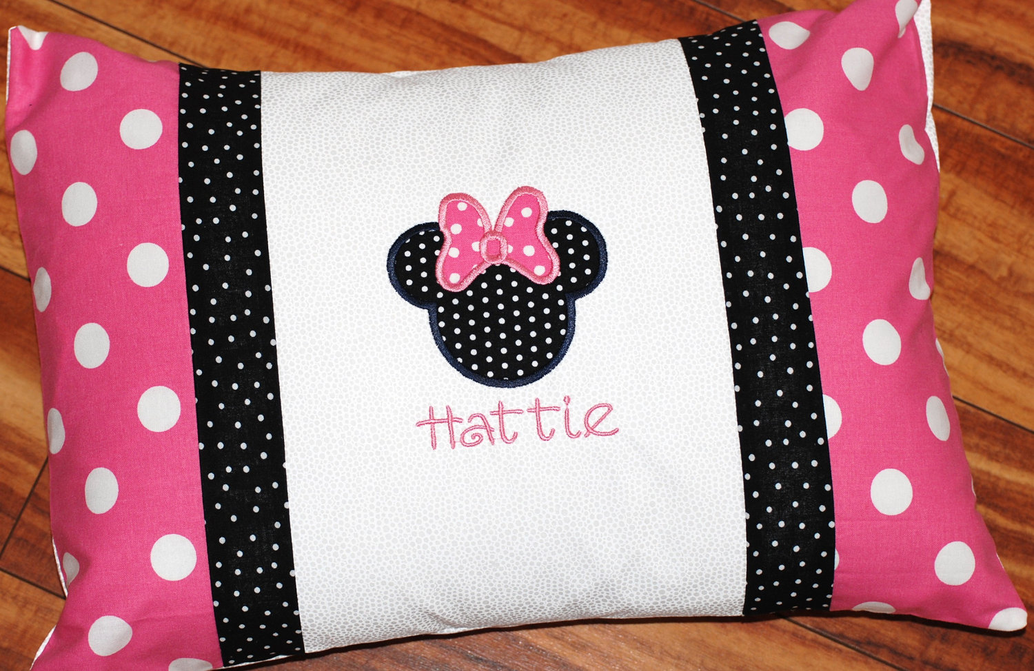 Girls or boys personalized Minnie or mickey Mouse pillowcase