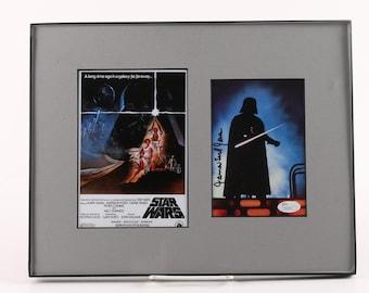 "James Earl Jones Autographed Photograph with ""Star Wars"" Poster - JSA COA"