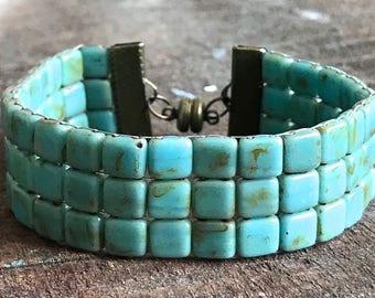 Handmade beaded bracelet.