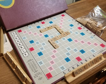 Scrabble Selchow & Righter Company 1953 Complete Ages 10 to Adult