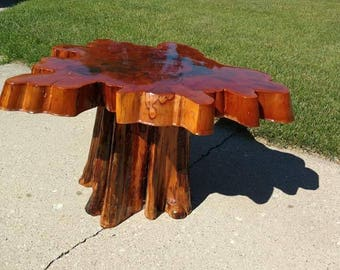 Cork Coffee Table One Of A Kind - Cypress stump coffee table