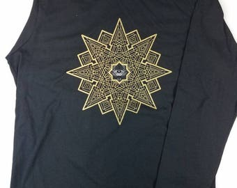Gold and Silver Geometric Eye Long Sleeve