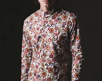 Strawberry Fields Kaftan Shirt