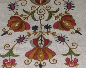 sale!25%off lovely  vintage antique old linen hand woven , 130cmx66cm/hand-embroidered tablecloth
